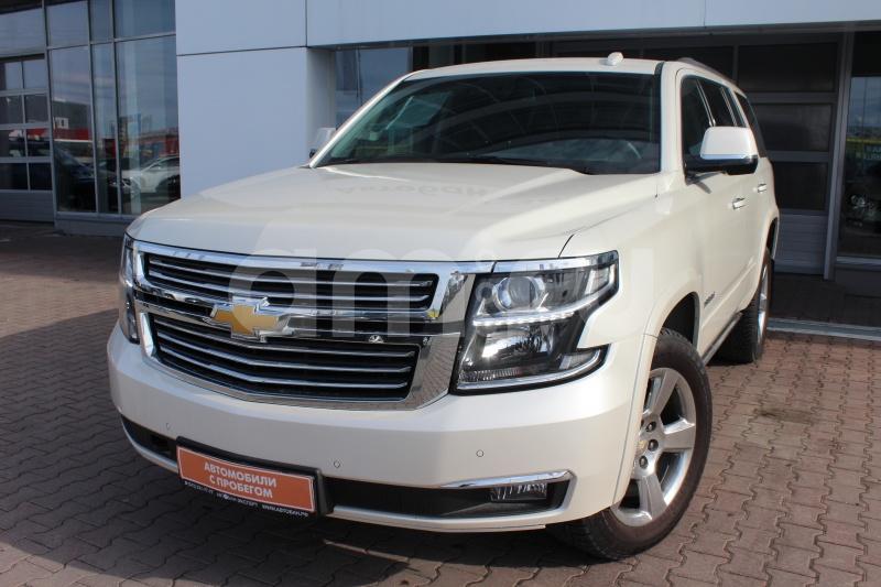 Chevrolet Tahoe с пробегом, белый , отличное состояние, 2015 года выпуска, цена 2 899 000 руб. в автосалоне Автобан-Запад (Екатеринбург, ул. Металлургов, д. 67)