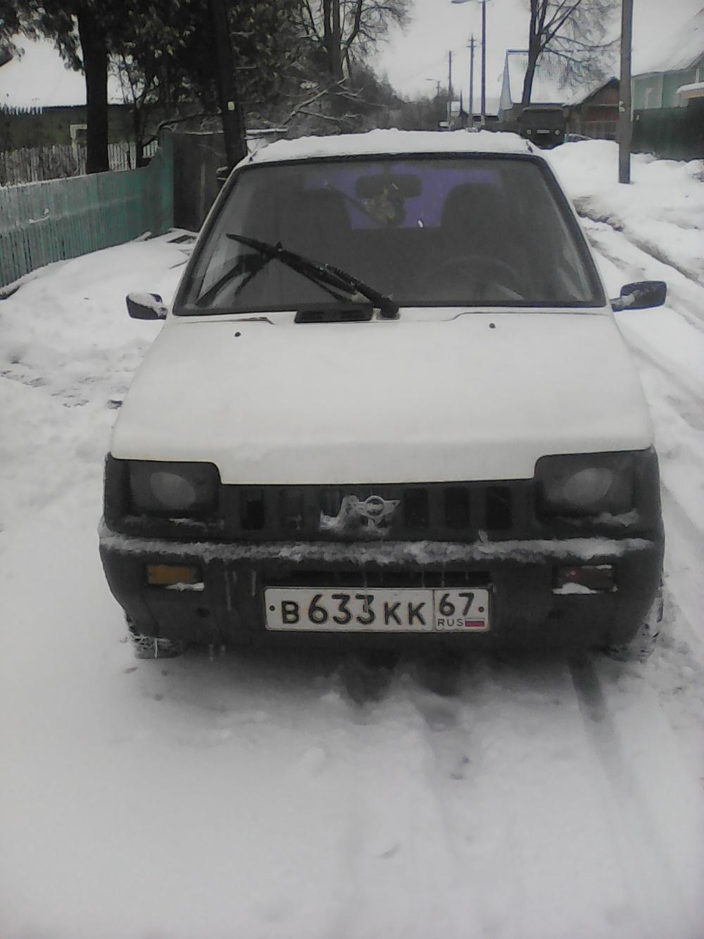 Подержанный ВАЗ (Lada) 1111 Ока, хорошее состояние, белый , 2001 года выпуска, цена 24 000 руб. в Смоленской области