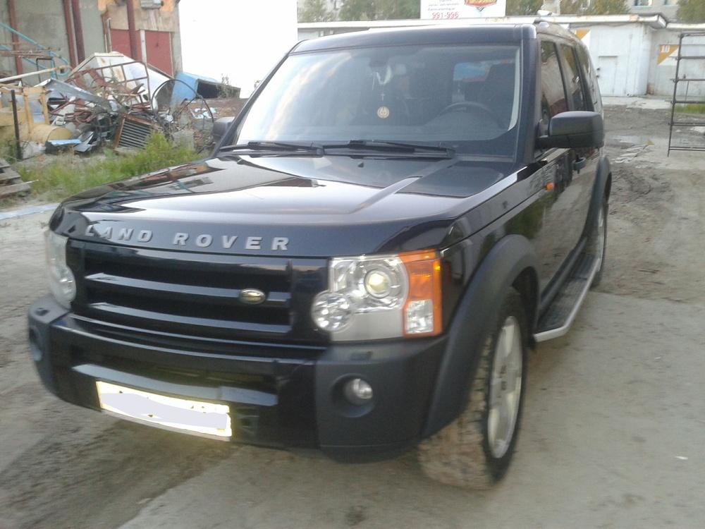 Подержанный Land Rover Discovery, хорошее состояние, синий металлик, 2006 года выпуска, цена 900 000 руб. в ао. Ханты-Мансийском Автономном округе - Югре