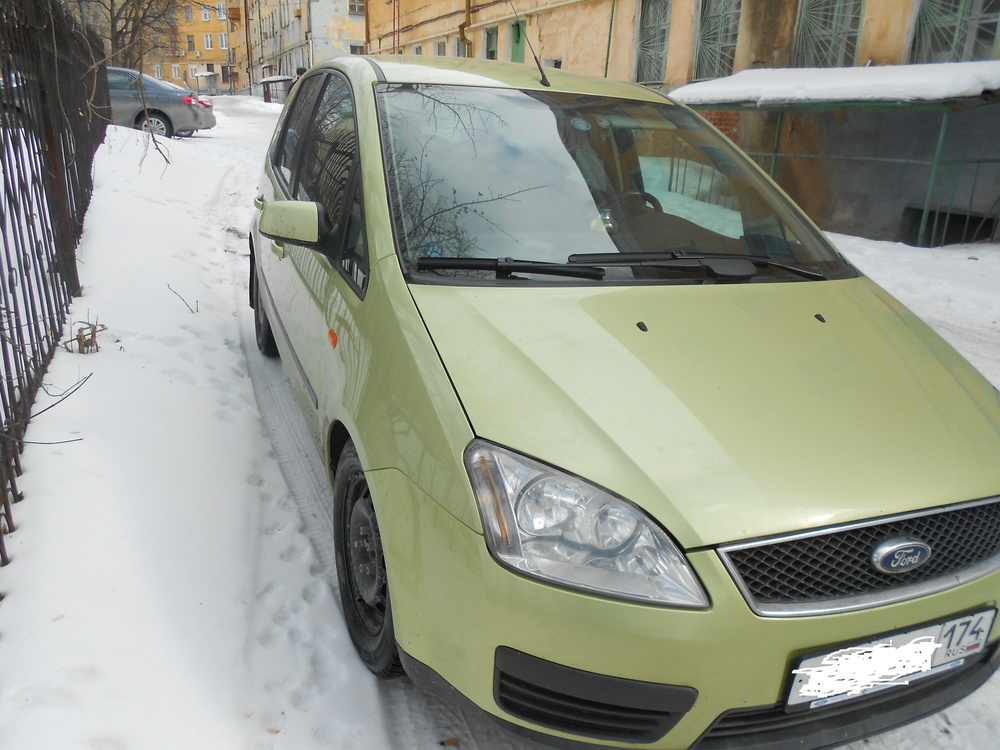 Подержанный Ford C-Max, хорошее состояние, салатовый , 2005 года выпуска, цена 310 000 руб. в Челябинской области