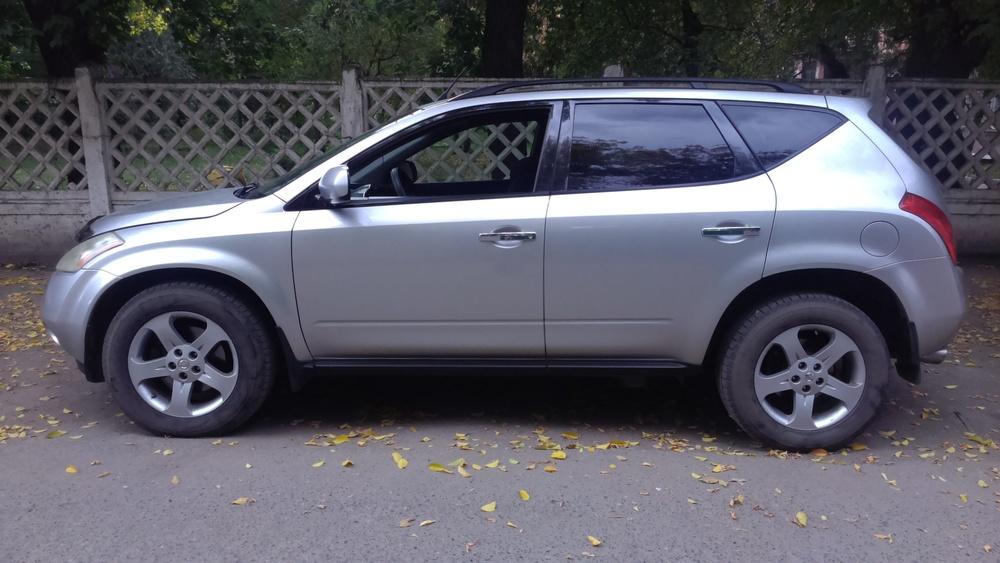 Подержанный Nissan Murano, хорошее состояние, серебряный , 2003 года выпуска, цена 380 000 руб. в Омске