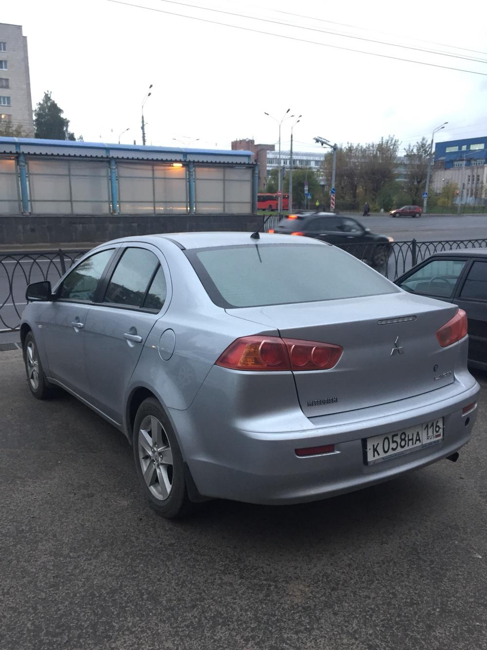 Подержанный Mitsubishi Lancer, отличное состояние, серебряный , 2008 года выпуска, цена 390 000 руб. в республике Татарстане