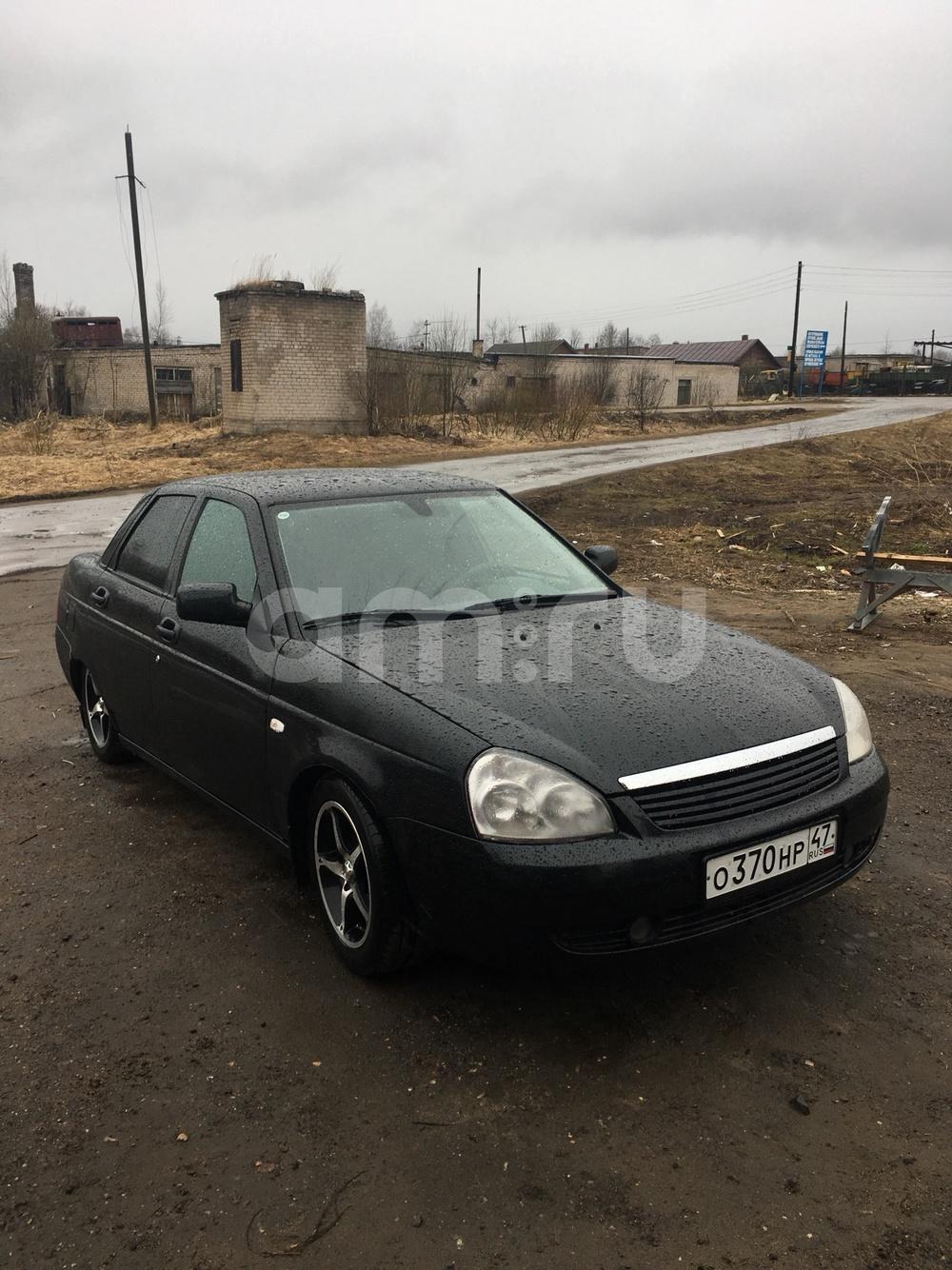 Подержанный ВАЗ (Lada) Priora, отличное состояние, черный акрил, 2008 года выпуска, цена 200 000 руб. в Тверской области