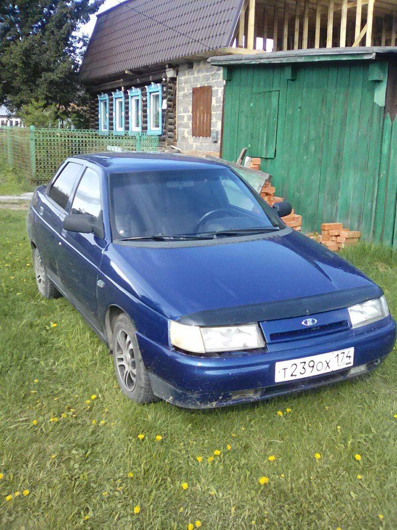 Подержанный ВАЗ (Lada) 2110, отличное состояние, синий , 2001 года выпуска, цена 57 000 руб. в Челябинской области