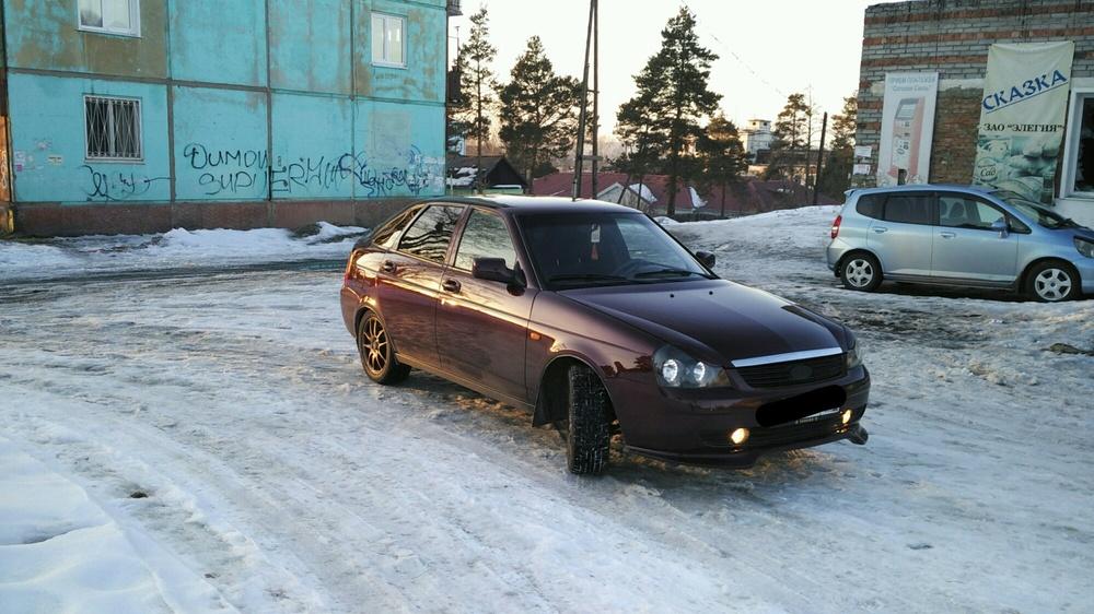 Подержанный ВАЗ (Lada) Priora, отличное состояние, вишневый металлик, 2009 года выпуска, цена 270 000 руб. в Иркутской области