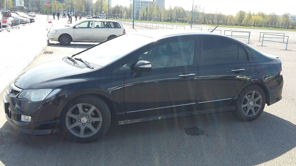 Подержанный Honda Civic, хорошее состояние, черный , 2008 года выпуска, цена 390 000 руб. в республике Татарстане