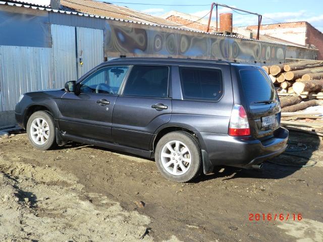 Подержанный Subaru Forester, хорошее состояние, мокрый асфальт , 2007 года выпуска, цена 530 000 руб. в Челябинской области