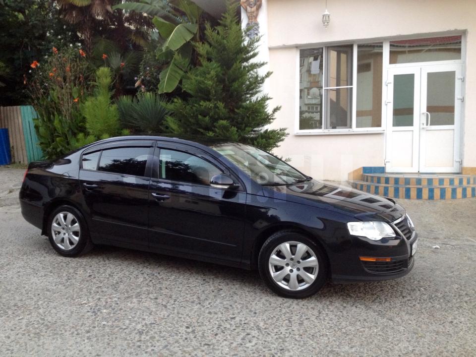 Подержанный Volkswagen Passat, хорошее состояние, черный , 2007 года выпуска, цена 520 000 руб. в Челябинской области