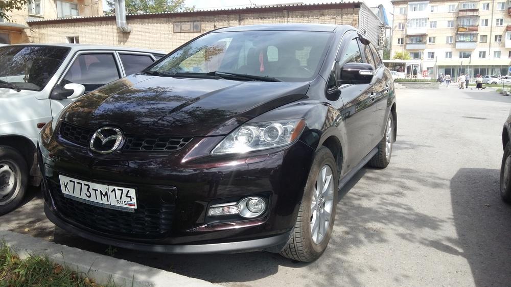 Подержанный Mazda CX-7, отличное состояние, коричневый металлик, 2008 года выпуска, цена 610 000 руб. в Челябинской области