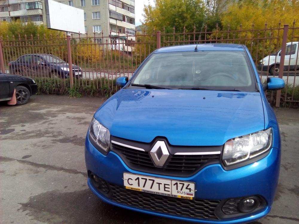 Подержанный Renault Sandero, отличное состояние, синий , 2016 года выпуска, цена 560 000 руб. в Челябинской области