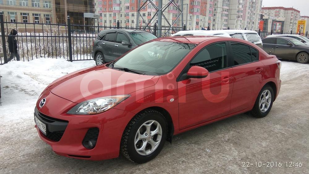 Подержанный Mazda 3, отличное состояние, красный , 2012 года выпуска, цена 610 000 руб. в ао. Ханты-Мансийском Автономном округе - Югре