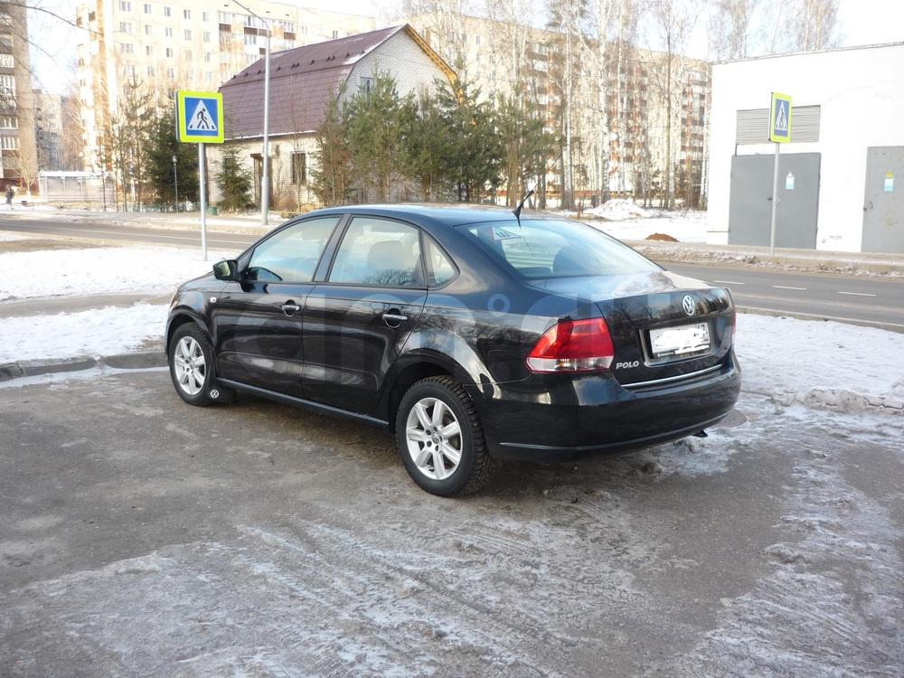 Подержанный Volkswagen Polo, отличное состояние, черный металлик, 2012 года выпуска, цена 460 000 руб. в Смоленской области