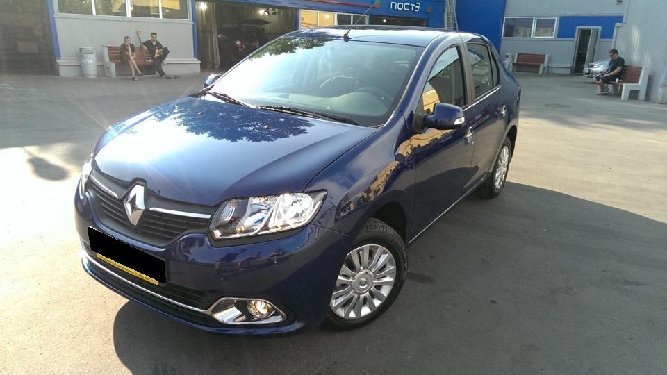 Подержанный Renault Logan, хорошее состояние, синий , 2014 года выпуска, цена 540 000 руб. в ао. Ханты-Мансийском Автономном округе - Югре