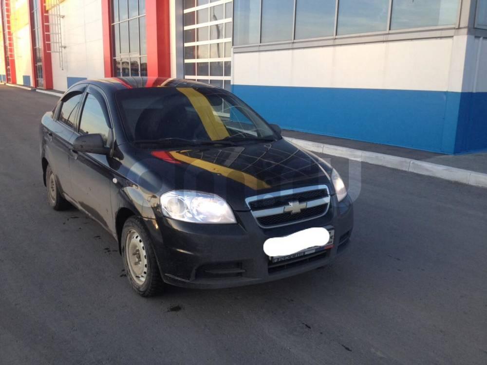 Подержанный Chevrolet Aveo, хорошее состояние, черный , 2007 года выпуска, цена 215 000 руб. в Ульяновской области