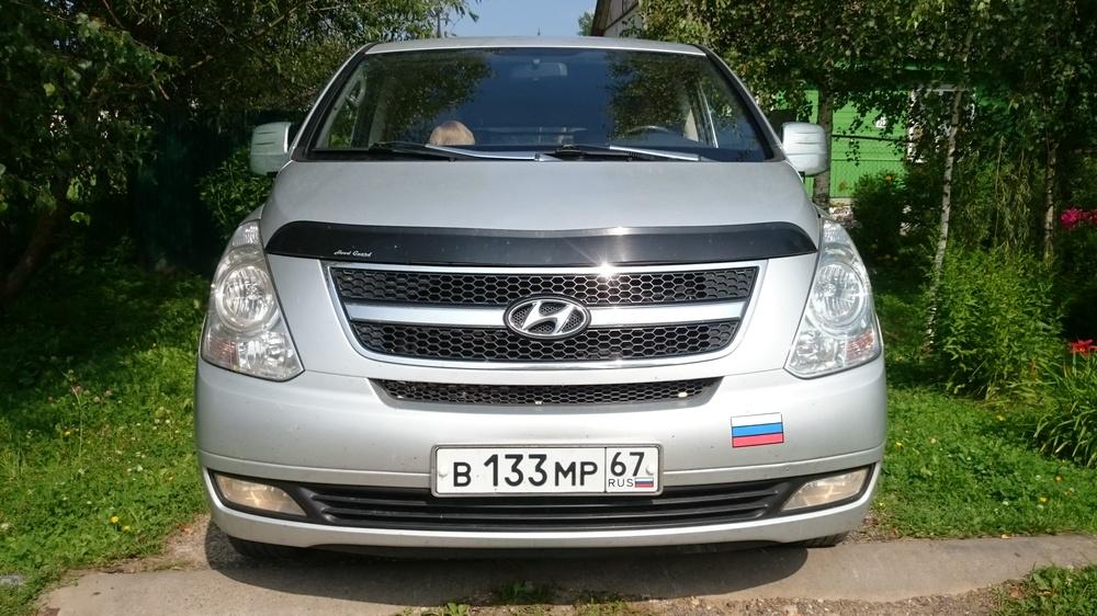 Подержанный Hyundai Starex, отличное состояние, серебряный металлик, 2009 года выпуска, цена 700 000 руб. в Смоленской области