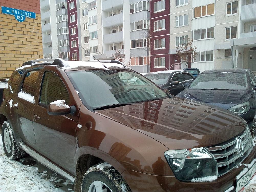 Подержанный Renault Duster, хорошее состояние, коричневый , 2013 года выпуска, цена 480 000 руб. в Тюмени
