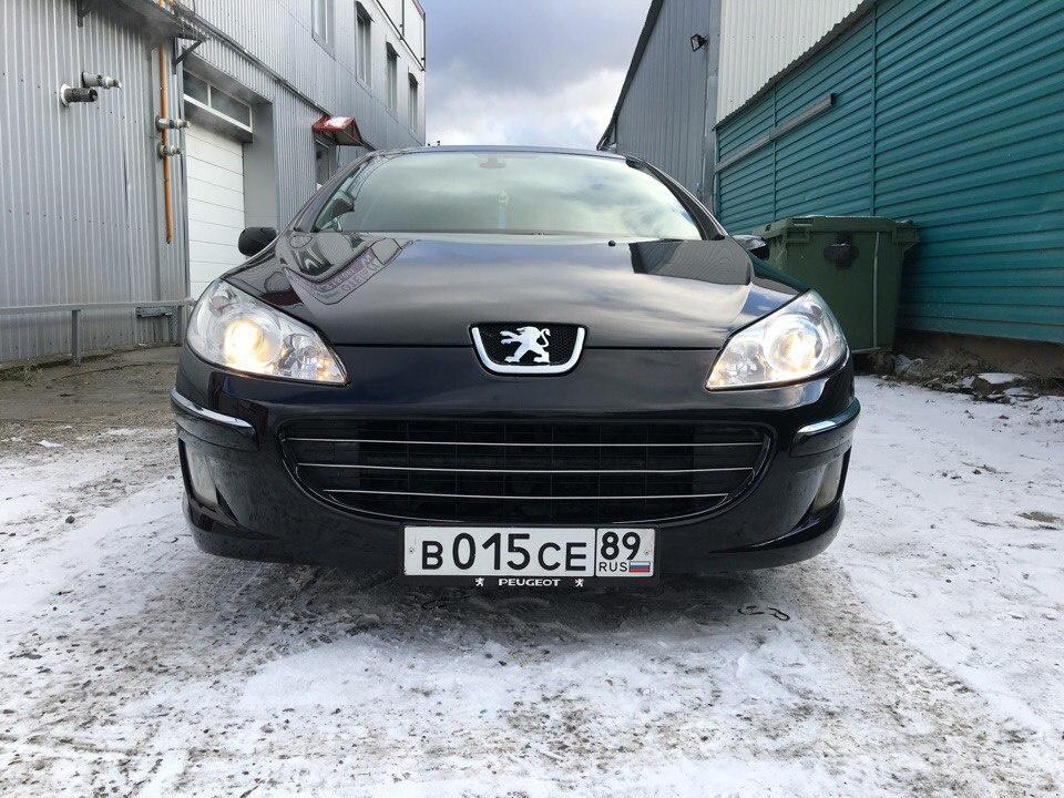 Подержанный Peugeot 407, хорошее состояние, черный , 2008 года выпуска, цена 350 000 руб. в ао. Ханты-Мансийском Автономном округе - Югре