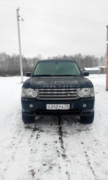 Подержанный Land Rover Range Rover, отличное состояние, синий , 2007 года выпуска, цена 850 000 руб. в Тюмени