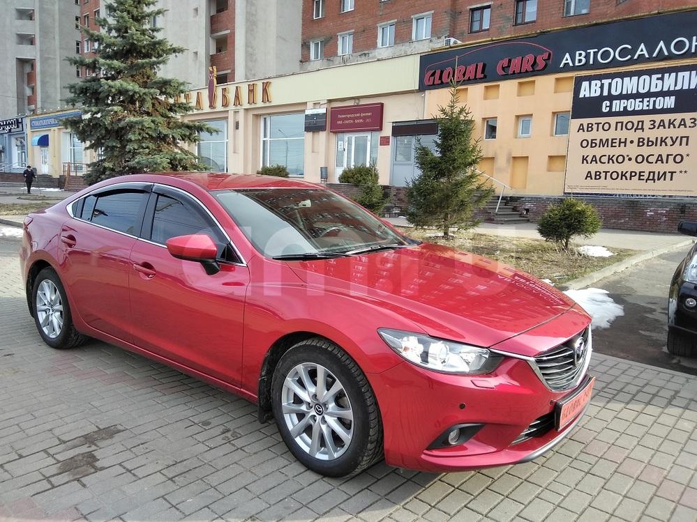 Mazda 6 с пробегом, красный металлик, отличное состояние, 2014 года выпуска, цена 999 000 руб. в автосалоне Global Cars (Нижний Новгород, б-р Мещерский, д. 3/1)