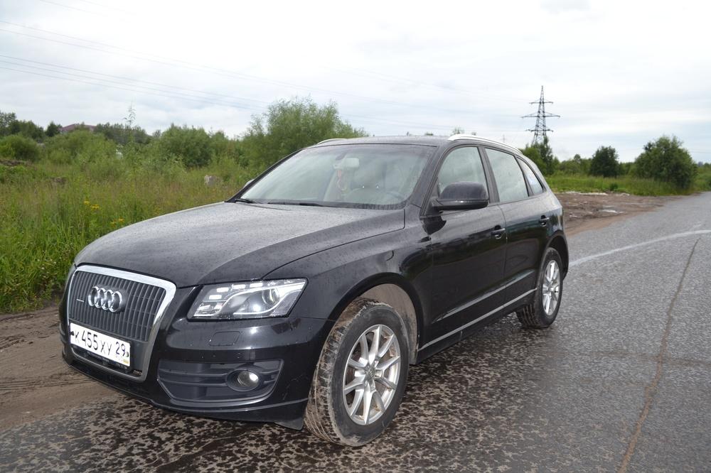 Подержанный Audi Q5, отличное состояние, черный металлик, 2009 года выпуска, цена 840 000 руб. в Архангельске
