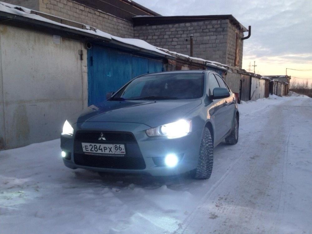 Подержанный Mitsubishi Lancer, хорошее состояние, синий металлик, 2007 года выпуска, цена 360 000 руб. в ао. Ханты-Мансийском Автономном округе - Югре