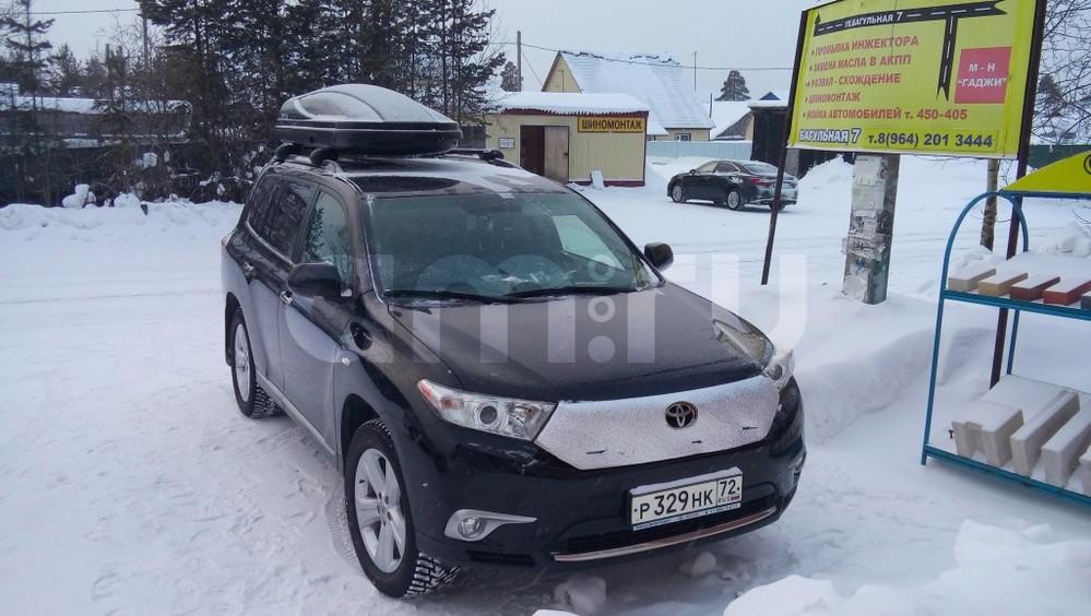 Подержанный Toyota Highlander, отличное состояние, черный металлик, 2011 года выпуска, цена 1 650 000 руб. в ао. Ханты-Мансийском Автономном округе - Югре