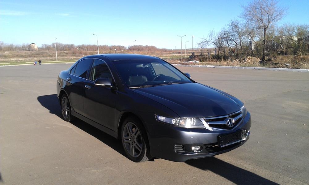 Подержанный Honda Accord, отличное состояние, серый , 2007 года выпуска, цена 560 000 руб. в Челябинской области
