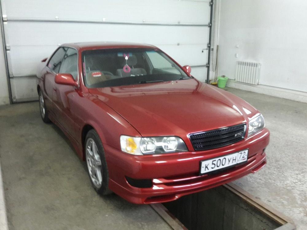 Подержанный Toyota Chaser, отличное состояние, красный , 1998 года выпуска, цена 410 000 руб. в Тюмени