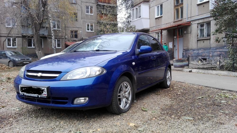 Подержанный Chevrolet Lacetti, хорошее состояние, синий акрил, 2008 года выпуска, цена 300 000 руб. в Челябинской области
