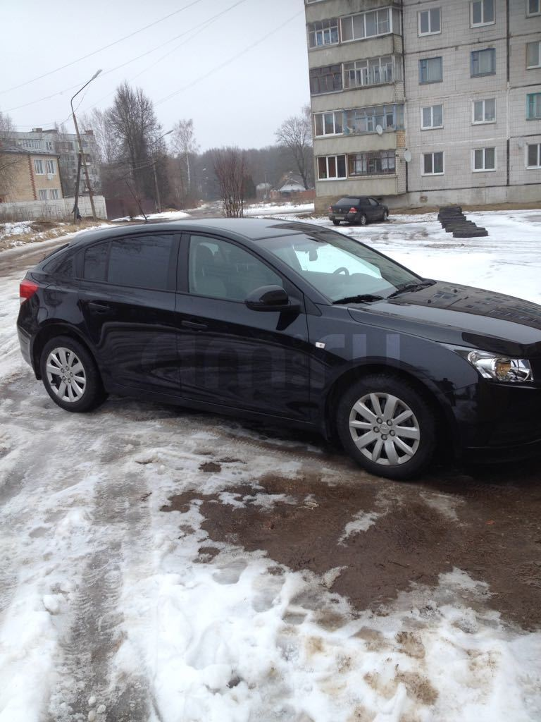 Подержанный Chevrolet Cruze, отличное состояние, черный металлик, 2012 года выпуска, цена 490 000 руб. в Смоленской области