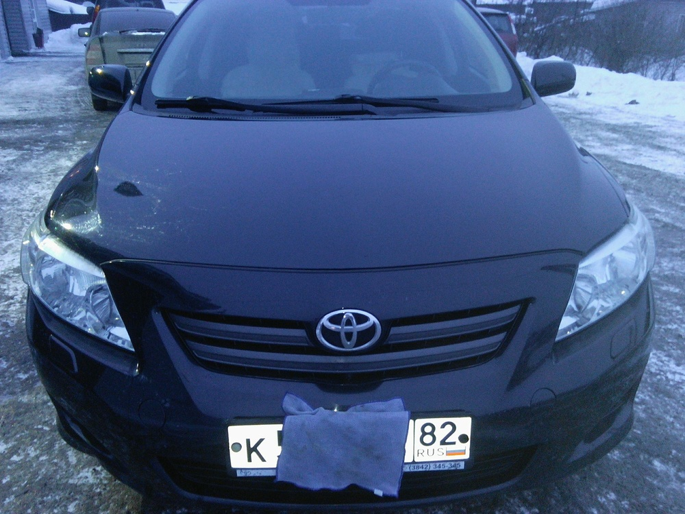 Подержанный Toyota Corolla, отличное состояние, черный , 2008 года выпуска, цена 445 000 руб. в Кемеровской области