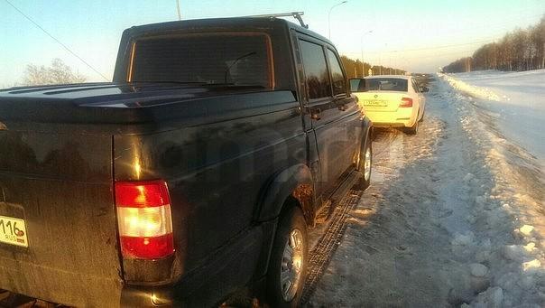 Подержанный УАЗ Pickup, хорошее состояние, черный , 2011 года выпуска, цена 480 000 руб. в республике Татарстане