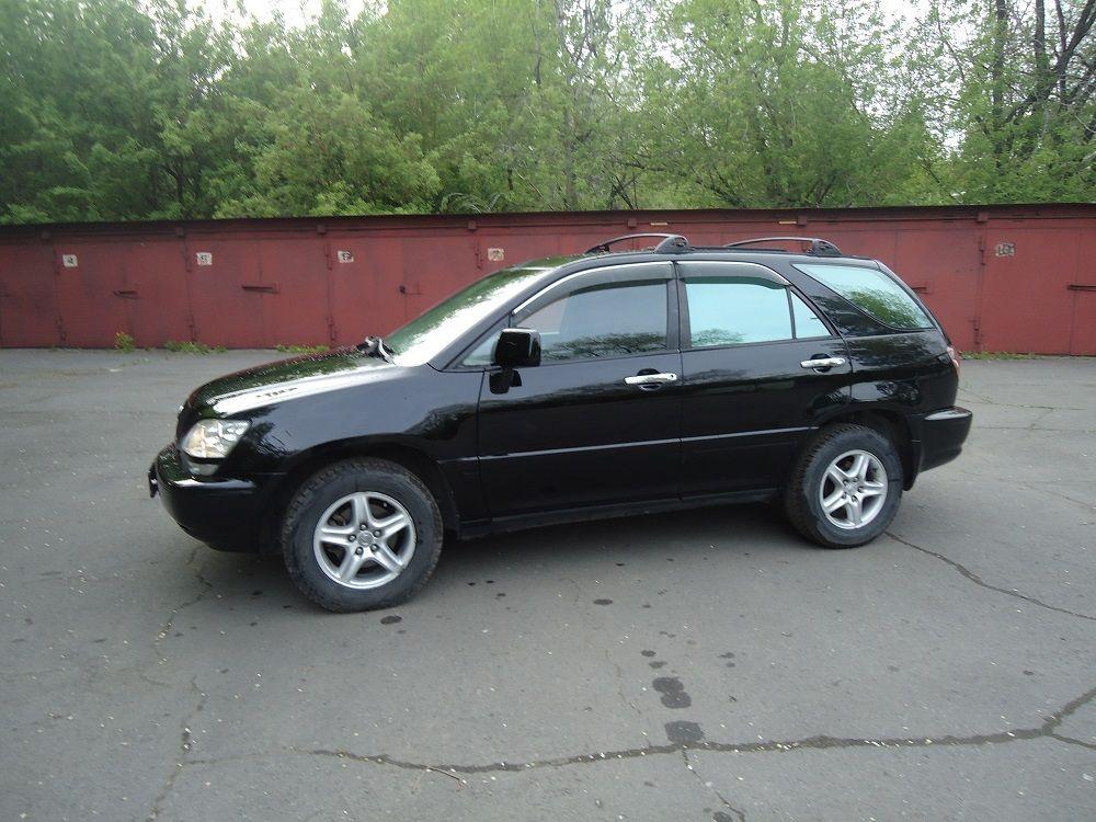Подержанный Lexus RX, отличное состояние, черный , 1998 года выпуска, цена 450 000 руб. в Кемеровской области