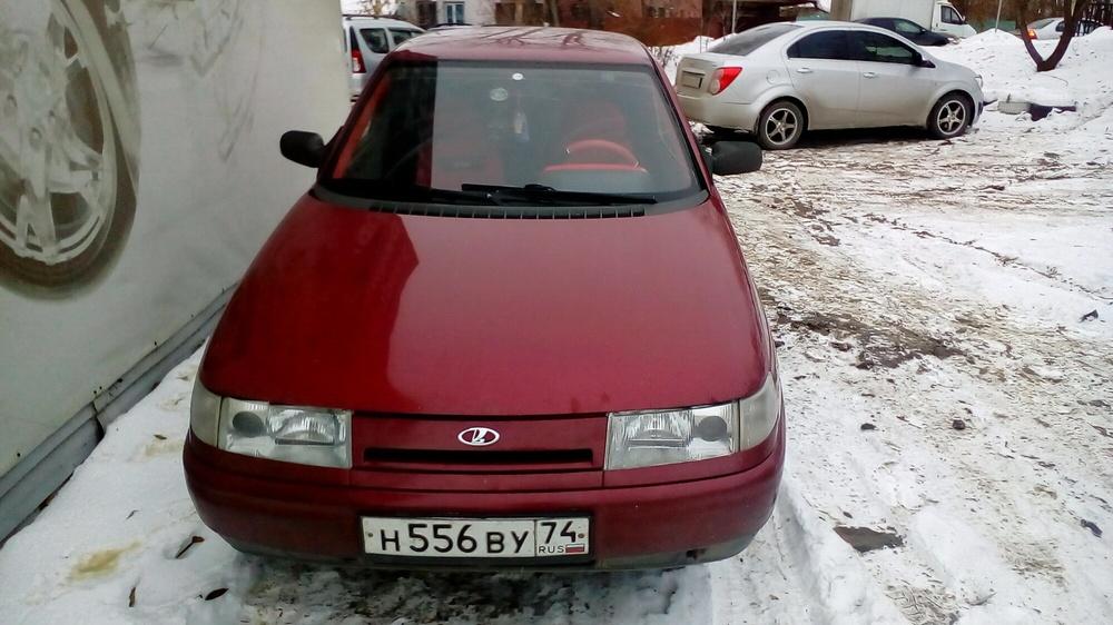Подержанный ВАЗ (Lada) 2110, хорошее состояние, красный , 1999 года выпуска, цена 65 000 руб. в Челябинской области