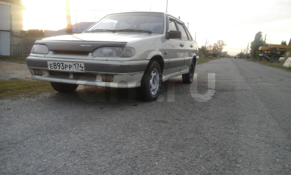 Подержанный ВАЗ (Lada) 2115, хорошее состояние, серебряный металлик, 2000 года выпуска, цена 55 000 руб. в Челябинской области