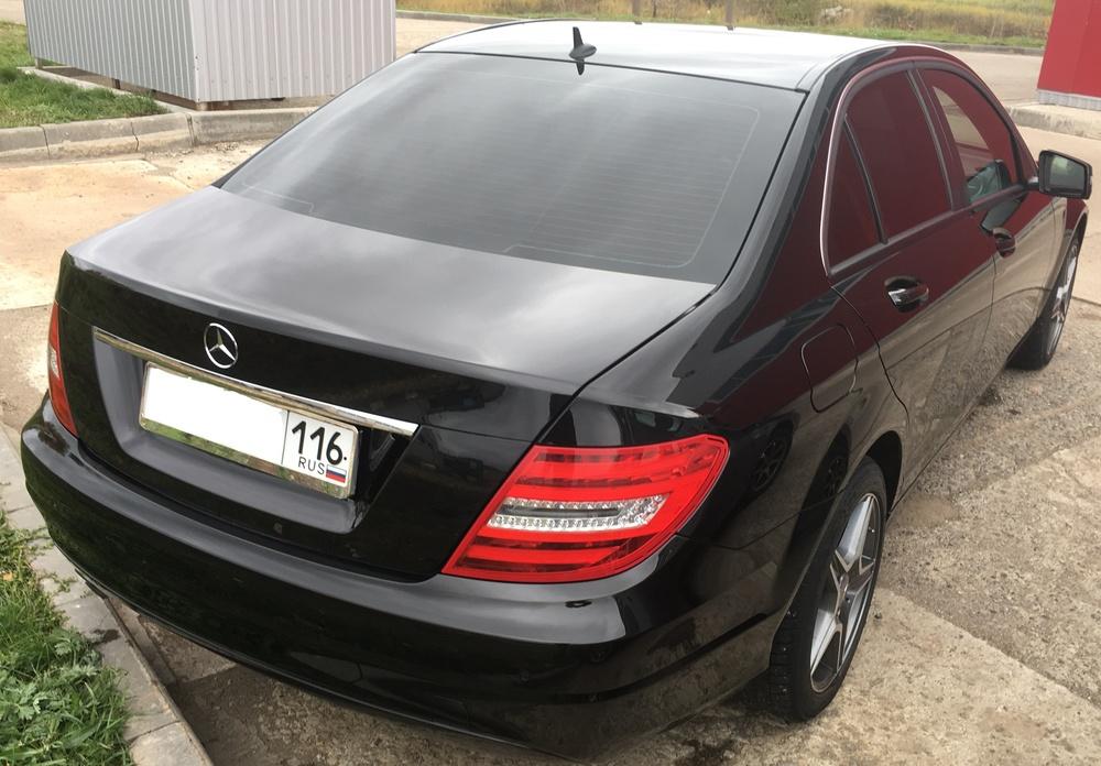 Подержанный Mercedes-Benz C-Класс, отличное состояние, черный , 2013 года выпуска, цена 1 050 000 руб. в республике Татарстане