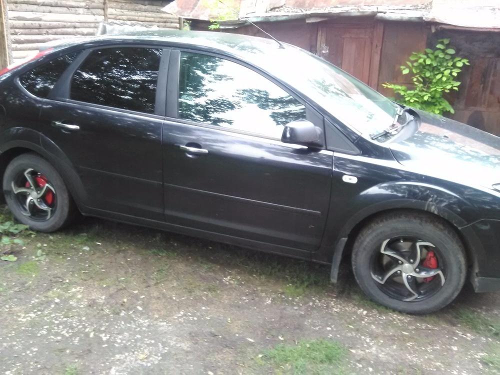 Подержанный Ford Focus, хорошее состояние, черный , 2007 года выпуска, цена 285 000 руб. в Твери