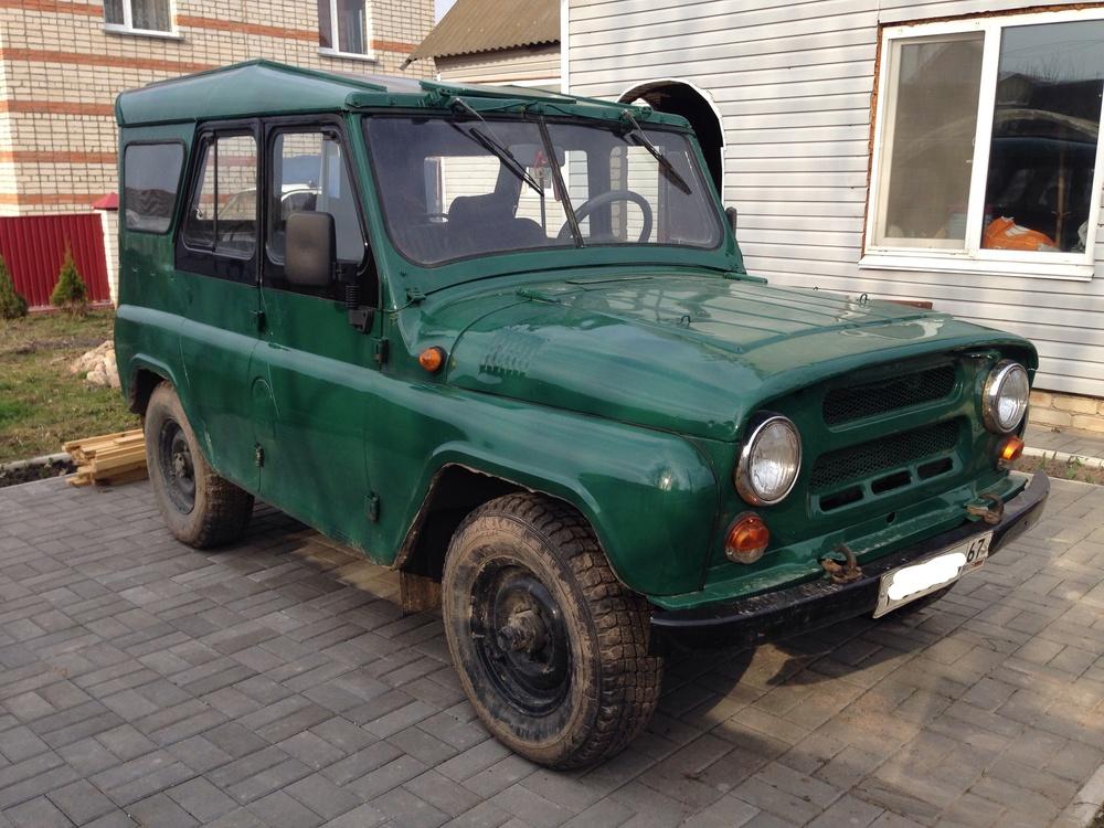 Подержанный УАЗ 3151, хорошее состояние, зеленый , 1995 года выпуска, цена 91 000 руб. в Смоленской области