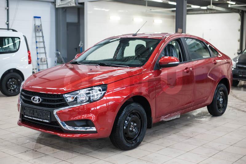 Новый авто ВАЗ (Lada) Vesta, красный , 2017 года выпуска, цена 598 900 руб. в автосалоне Березовский Лада-Центр (Березовский, ул. Кольцевая, д. 4)