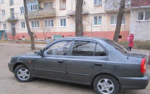 Подержанный Hyundai Accent, отличное состояние, серый , 2007 года выпуска, цена 240 000 руб. в Челябинской области