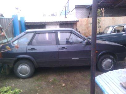 Подержанный ВАЗ (Lada) 2109, среднее состояние, фиолетовый металлик, 2001 года выпуска, цена 55 000 руб. в республике Татарстане