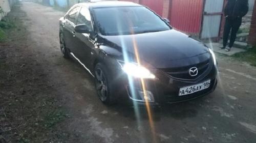 Подержанный Mazda 6, хорошее состояние, вишневый металлик, 2007 года выпуска, цена 580 000 руб. в ао. Ханты-Мансийском Автономном округе - Югре