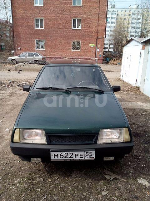 Подержанный ВАЗ (Lada) 2109, хорошее состояние, зеленый металлик, 2003 года выпуска, цена 85 000 руб. в Омске