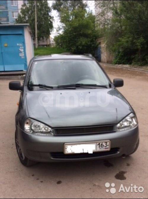 Подержанный ВАЗ (Lada) Kalina, хорошее состояние, серый , 2011 года выпуска, цена 215 000 руб. в Самаре