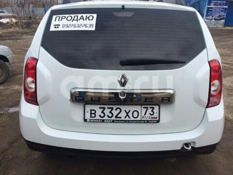 Подержанный Renault Duster, отличное состояние, белый , 2013 года выпуска, цена 490 000 руб. в Ульяновской области