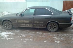 Автомобиль BMW 5 серия, среднее состояние, 1992 года выпуска, цена 100 000 руб., Челябинская область