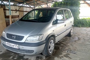 Подержанный автомобиль Opel Zafira, хорошее состояние, 2002 года выпуска, цена 280 000 руб., Челябинск
