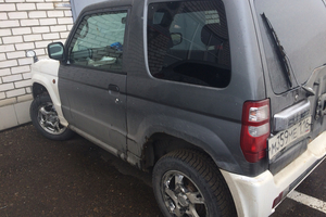 Автомобиль Mitsubishi Pajero Mini, битый состояние, 2002 года выпуска, цена 120 000 руб., Казань