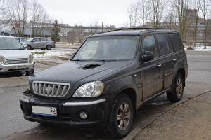 Автомобиль Hyundai Terracan, битый состояние, 2001 года выпуска, цена 260 000 руб., Можайск