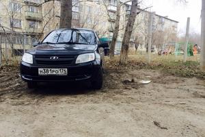 Подержанный автомобиль ВАЗ (Lada) Granta, отличное состояние, 2013 года выпуска, цена 200 000 руб., Челябинск